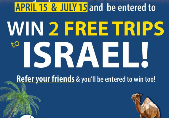 Win Two Free Trips Sign up for TorahMates