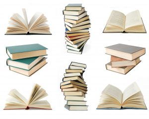 Best books on Judaism- stacks of books